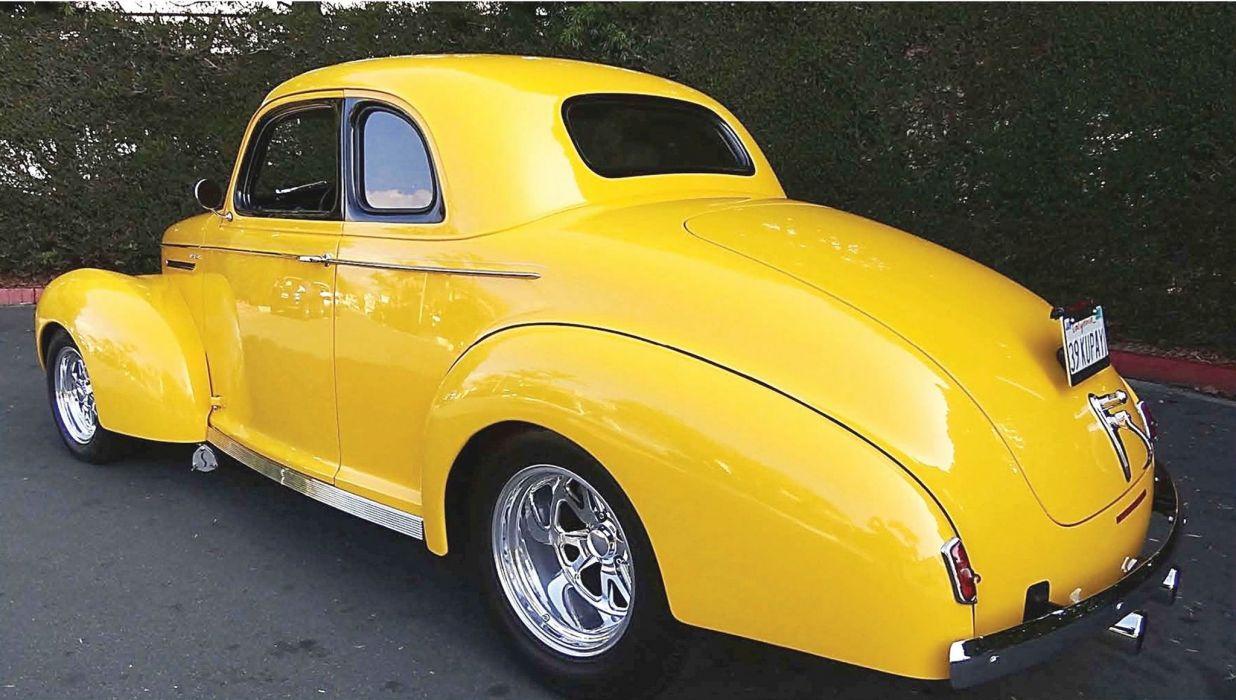 1939 Studebaker Champion Coupe Hotrod Streetrod Hot Rod Street Yellow USA 2048x1360-02 wallpaper
