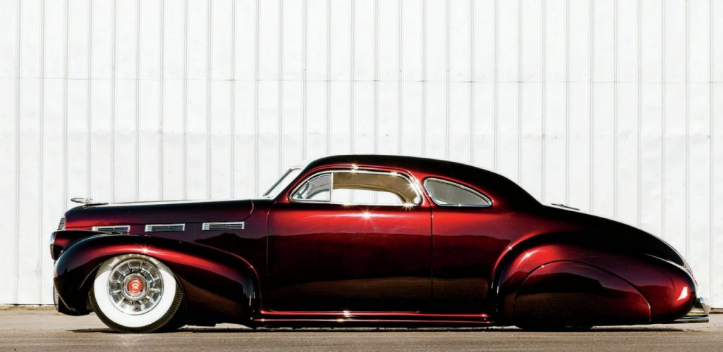 1940 Cadillac Lasalle Coupe Hotrod Hot Rod Custom Kustom Low Old School USA 1947x950 wallpaper