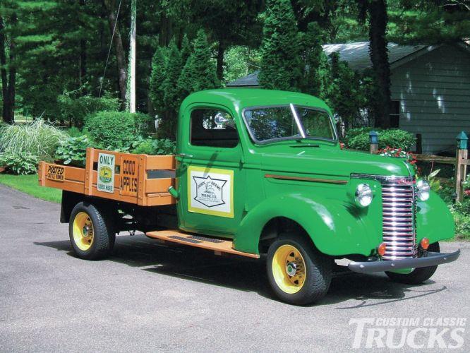 1940 Chevrolet Pickup Flatbed Hotrod Streetrod Hot Rod Street USA 1600x1200-01 wallpaper