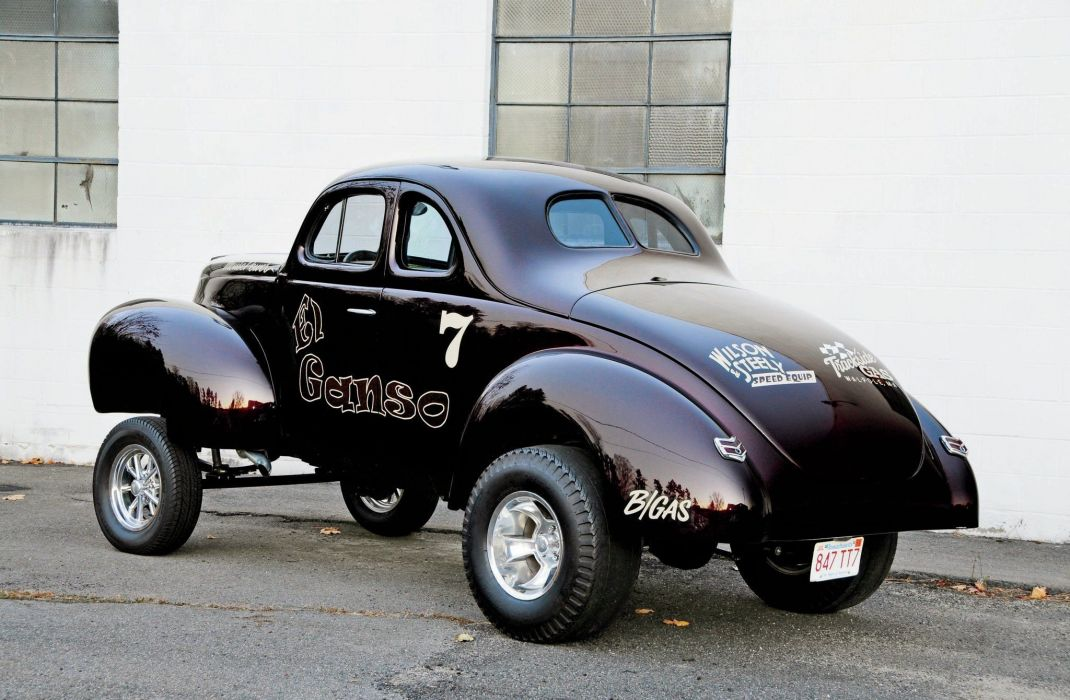 1940 Ford Coupe Drag Dragster Gasser Race Black USA 2048x1340-02 wallpaper