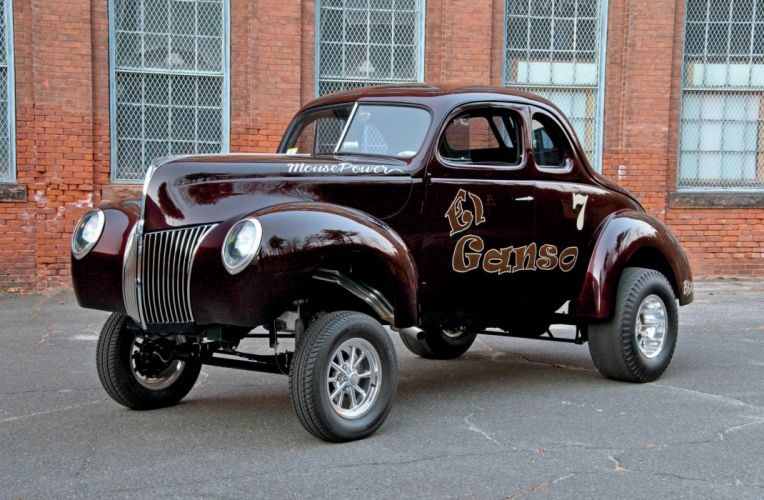 1940 Ford Coupe Drag Dragster Gasser Race Black USA 2048x1340-01 wallpaper