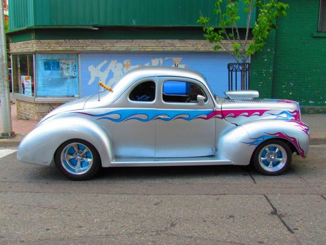 1940 Ford Coupe Hotrod Streetrod Hot Custom street rod USA 3840x2160 wallpaper