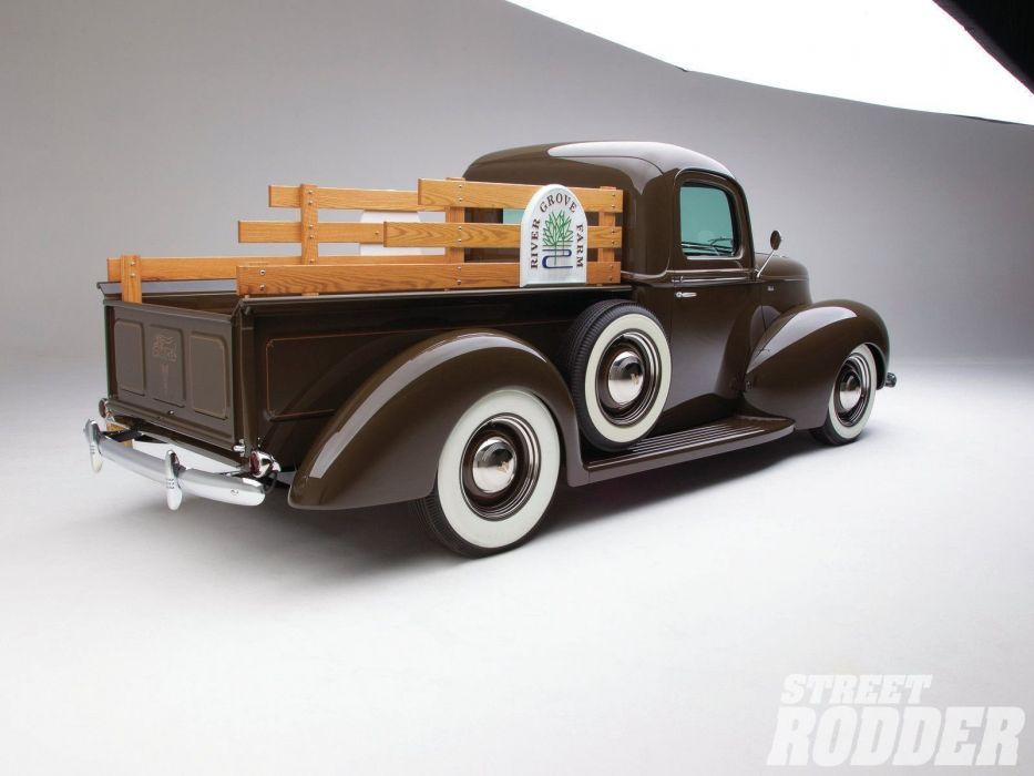 1940 Ford Pickup Hotrod Hot Rod Old School USA 1600x1200-02 wallpaper