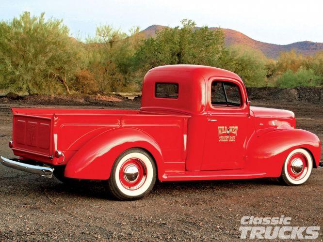 1940 Ford Pickup Hotrod Hot Rod Old School USA 1600x1200-05 wallpaper