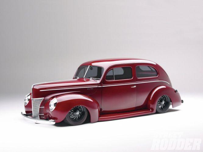 1940 Ford Sedan 2 Door Streetrod Hotrod Hot Rod Street USA -01 wallpaper
