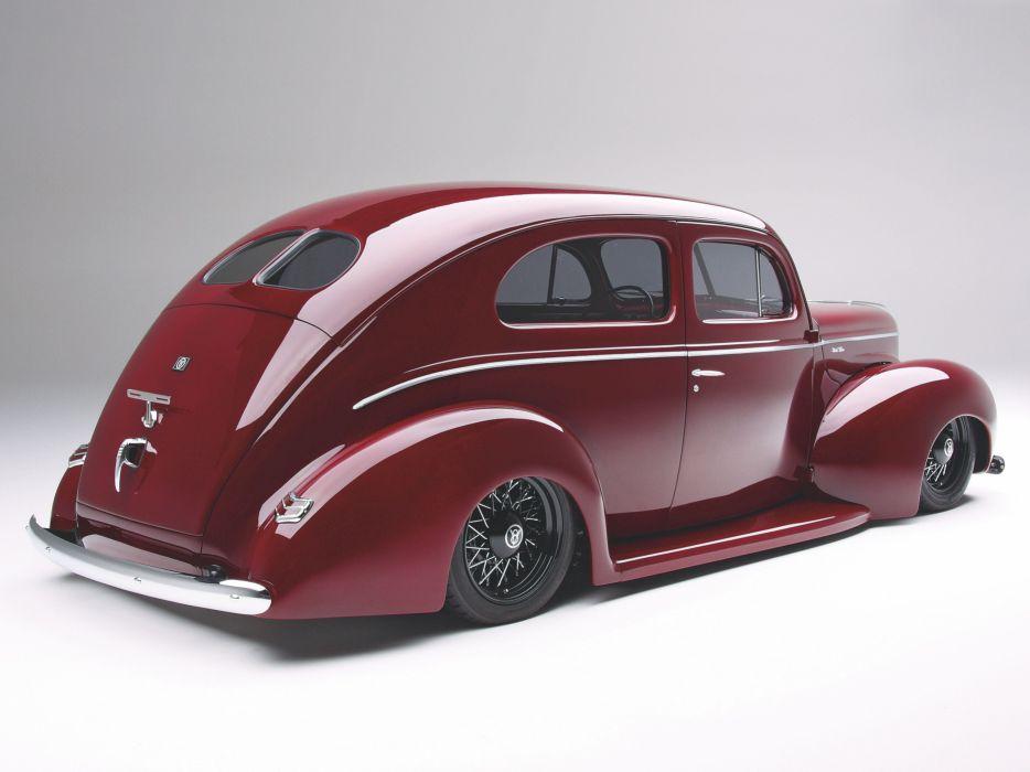1940 Ford Sedan 2 Door Streetrod Hotrod Hot Rod Street USA -02 wallpaper