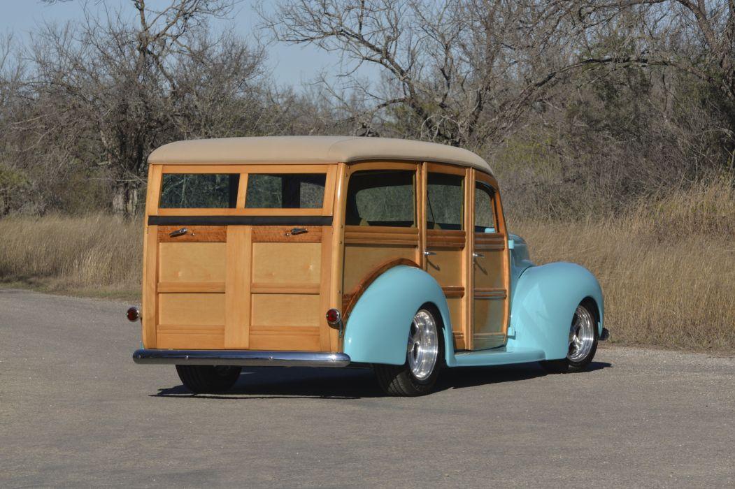 1940 Ford Deluxe Woody Wagon Hotrod Streetrod Hot Rod Street USA 4096x2730-03 wallpaper