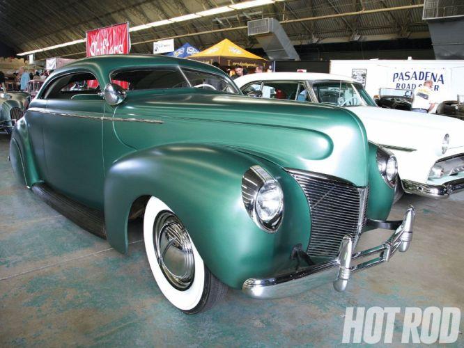 1940 Mercury Coupe Sleed Hotrod Hot Rod Custom Kustom Chopped Top Lowered Low USA 1600x1200-01 wallpaper