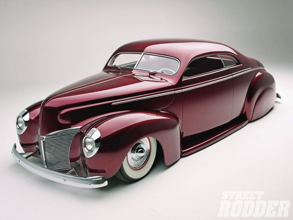 1940 Mercury Coupe Sleed Hotrod Hot Rod Custom Kustom Chopped Top Lowered Low USA 1600x1200-02 wallpaper