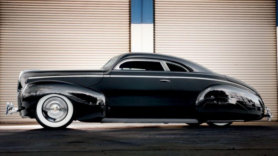 1940 Mercury Coupe Sleed Hotrod Hot Rod Custom Kustom Chopped Top Lowered Low USA 1920x1080-01 wallpaper