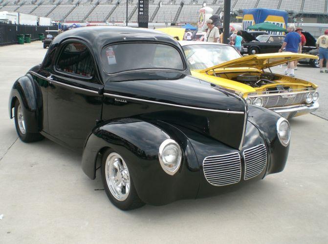 1940 Willys Coupe Streetrod Hotrod Hot Rod Street Black USA 2560x1900-01 wallpaper