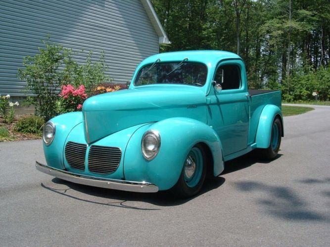 1940 Willys Pickup Hotrod Hot Rod Old Scholl Custom USA 1450x1088-02 wallpaper