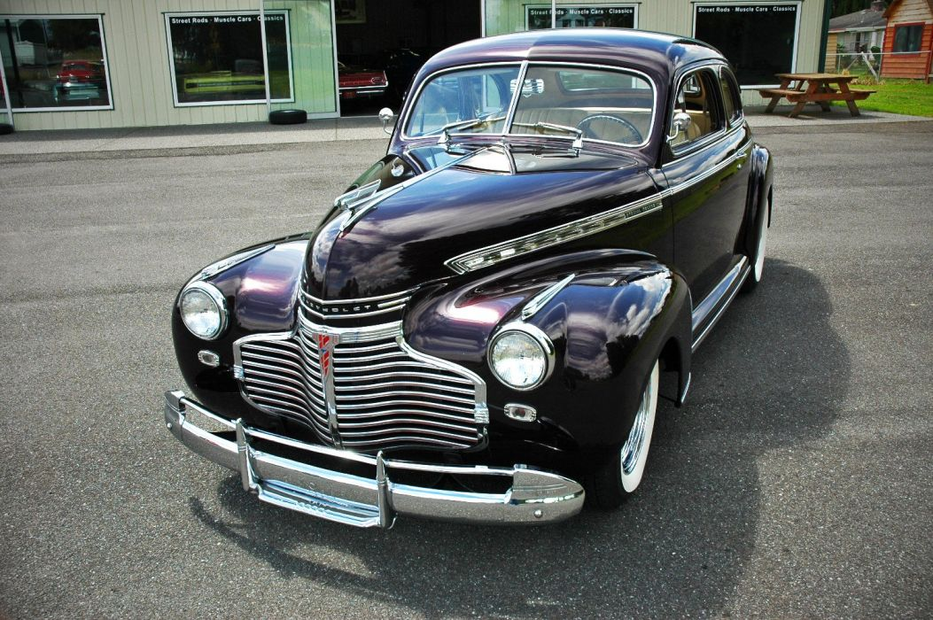 1941 Chevrolet Chevy Coupe Special Deluxe Hotrod Hot Rod Custom Old School USA 1500x1000-04 wallpaper