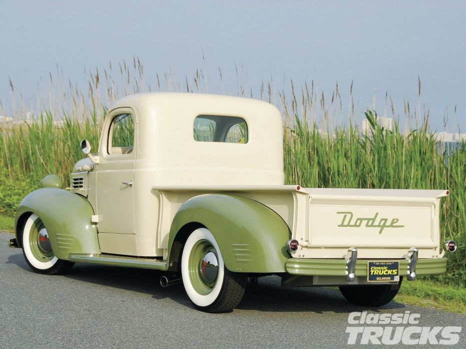 1941 Dodge Pickup Hotrod Hot Rod Custom Old School USA 1600x1200-02 wallpaper