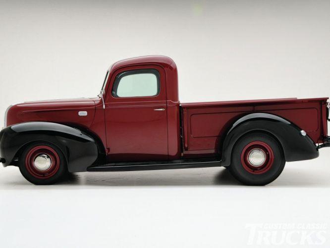 1941 Ford Pickup Hotrod Hot Rod Custom Old School USA 1600x1200-04 wallpaper