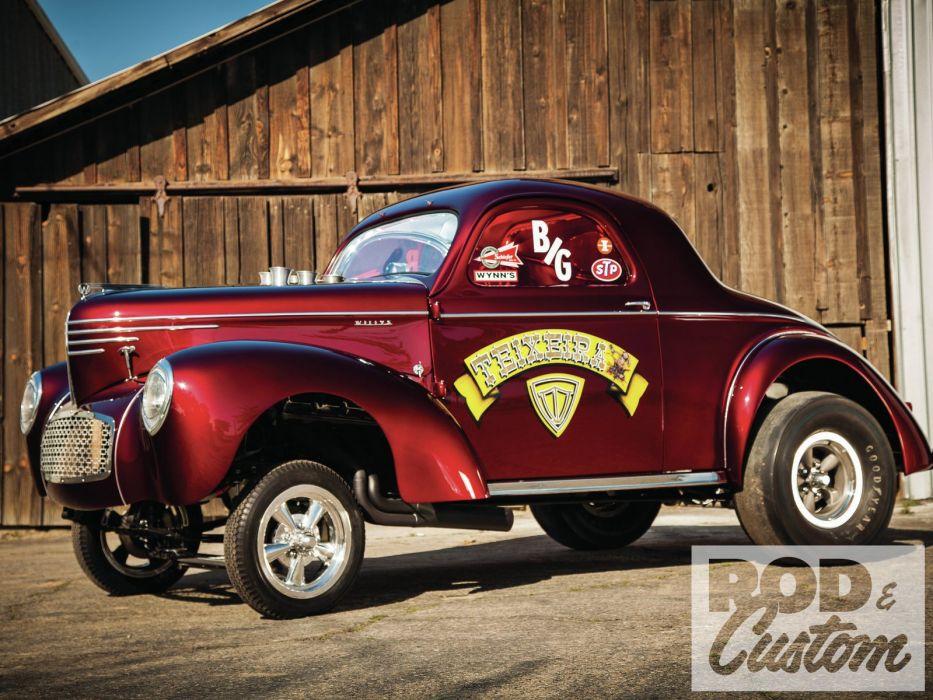 1941 Willis Coupe Gasser Drag Dragster Race Old Vintage Hotrod hot rod USA 1600x1200 wallpaper