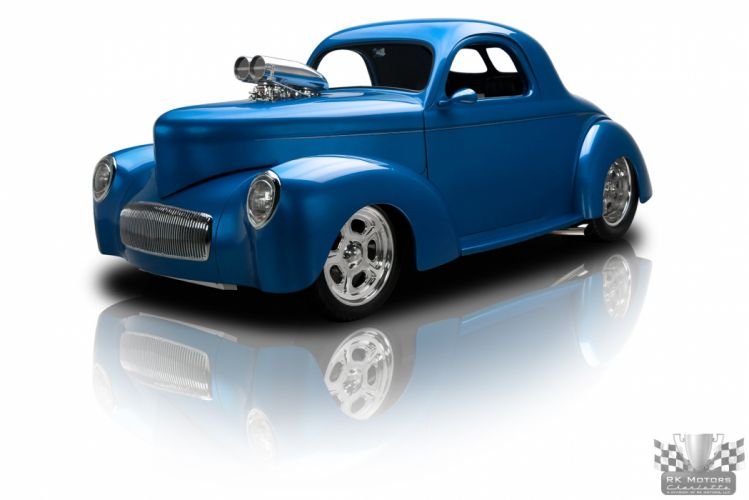 1941 Willys Coupe Candy Blue Hotrod Streetrod Hot Rod Street USA 2048x1360-07 wallpaper