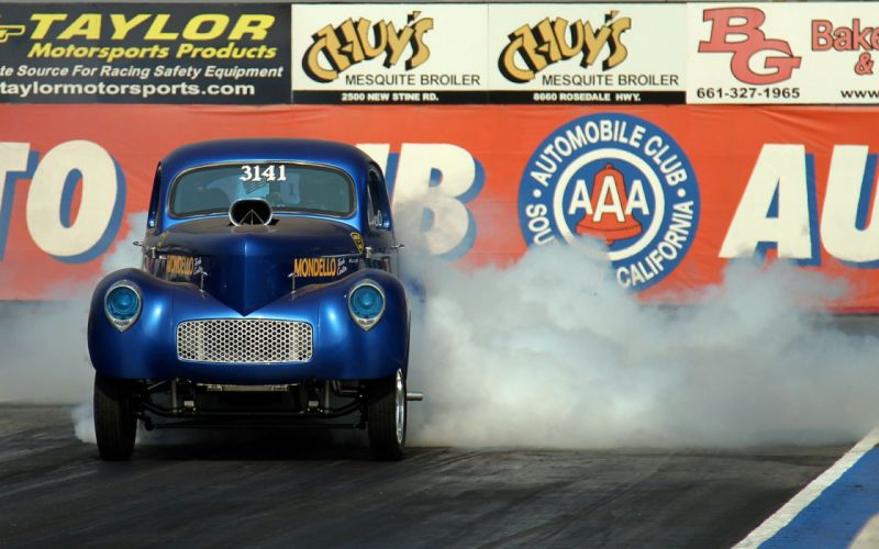 1941 Willys Coupe Drag Dragster Burnout Race USA 1920x1200-01 wallpaper