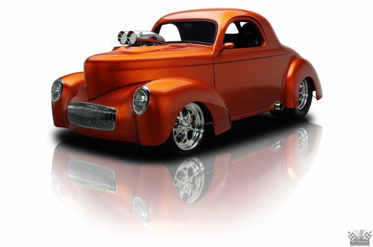 1941 Willys Coupe Copper Hotrod Streetrod Hot Rod Street USA 4200x2780-01 wallpaper