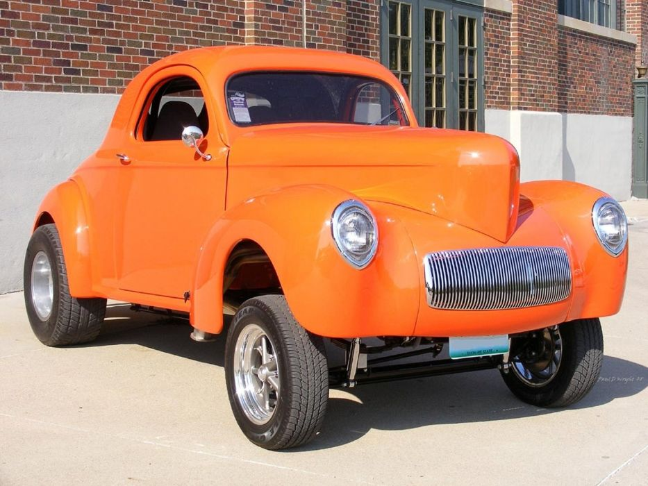 1941 Willys Coupe Drag Dragster Race Gasser USA 1600x1200-18 wallpaper