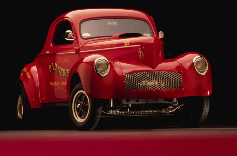 1941 Willys Coupe Drag Dragster Race Gasser USA 2923x1930-06 wallpaper