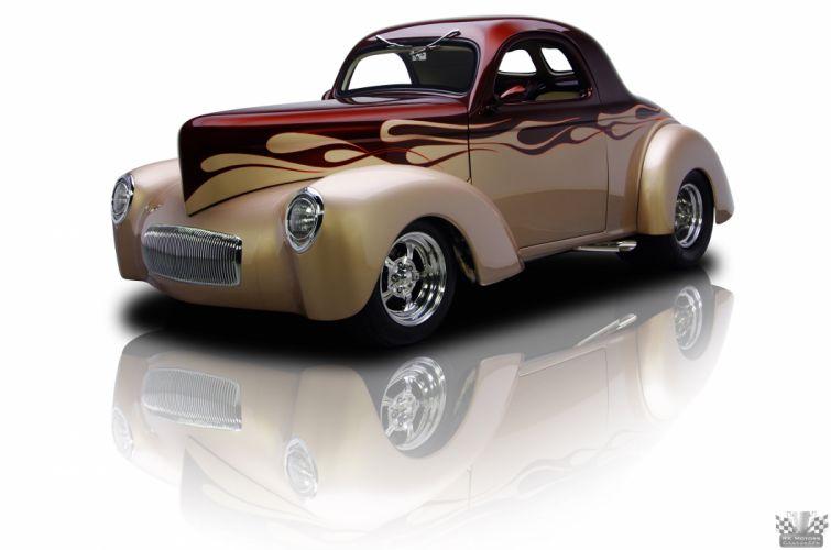 1941 Willys Coupe Hotrod Streetrod Hot Rod Street USA 4200x2780-02 wallpaper