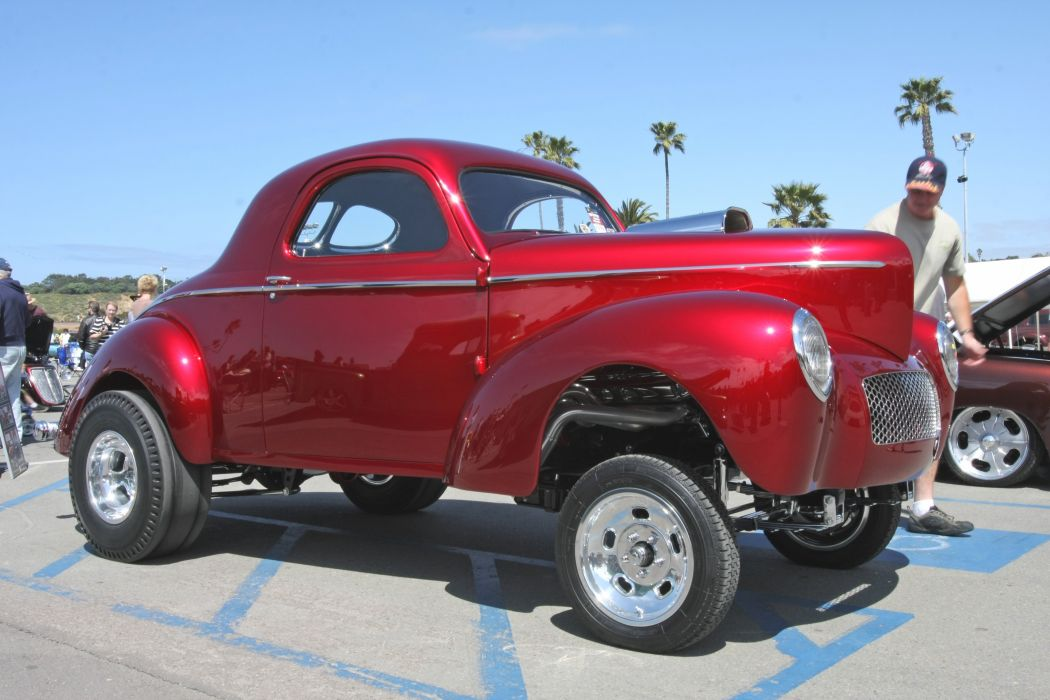 1941 Willys Coupe Drag Dragster Race Gasser USA 3888x2592-21 wallpaper
