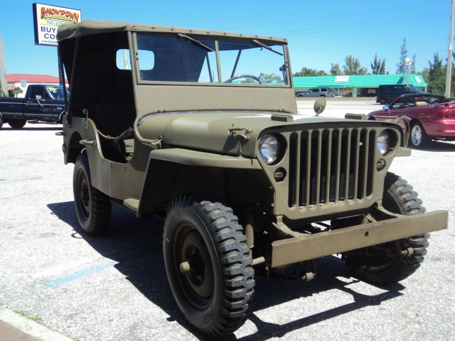 1942 Ford Military Jeep Military Classic Old Vintage Original USA 2592x1944-01 wallpaper