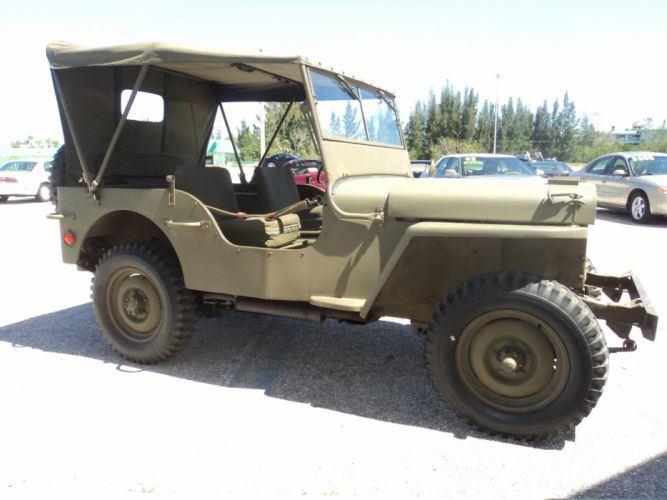 1942 Ford Military Jeep Military Classic Old Vintage Original USA 2592x1944-03 wallpaper