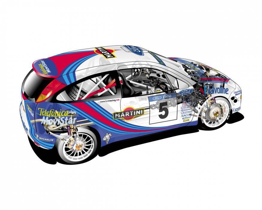 Focus WRC 2000 technical cars wallpaper