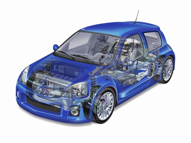 Renault Clio-V6 technical cars wallpaper