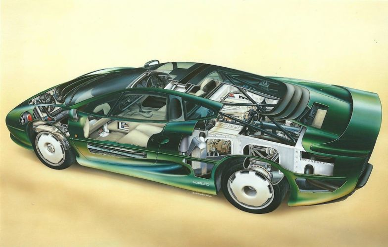 Jaguar XJ220 technical cars wallpaper