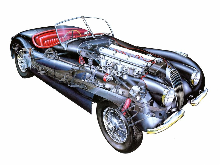 1951 Jaguar XK120 technical cars wallpaper
