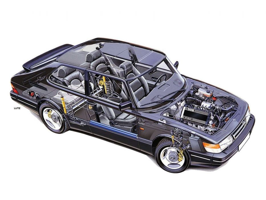 Saab 900 Turbo 16S technical cars wallpaper