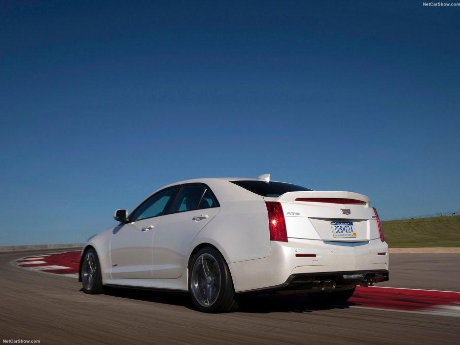 2016 ATS-V Cadillac cars sedan wallpaper