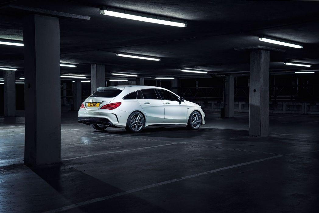 Mercedes AMG CLA-45 Shooting Brake UK-spec 2015 cars wallpaper