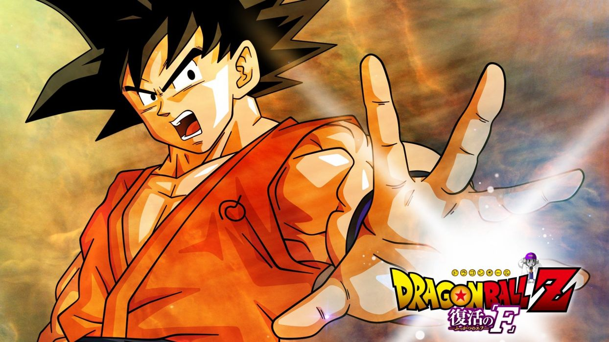 black hair dragonball logo male short hair son goku wallpaper