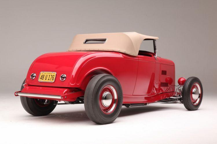 1932 Ford Roadster Hightboy Hotrod Hot Rod Custom Old School USA 2040x1360-05 wallpaper