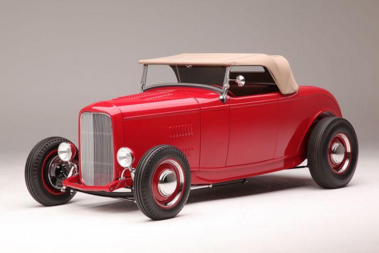 1932 Ford Roadster Hightboy Hotrod Hot Rod Custom Old School USA 2040x1360-04 wallpaper