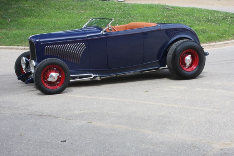 1932 Ford Roadster Hightboy Hotrod Hot Rod Custom Old School USA 2040x1360-01 wallpaper