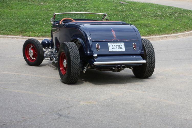 1932 Ford Roadster Hightboy Hotrod Hot Rod Custom Old School USA 2040x1360-02 wallpaper