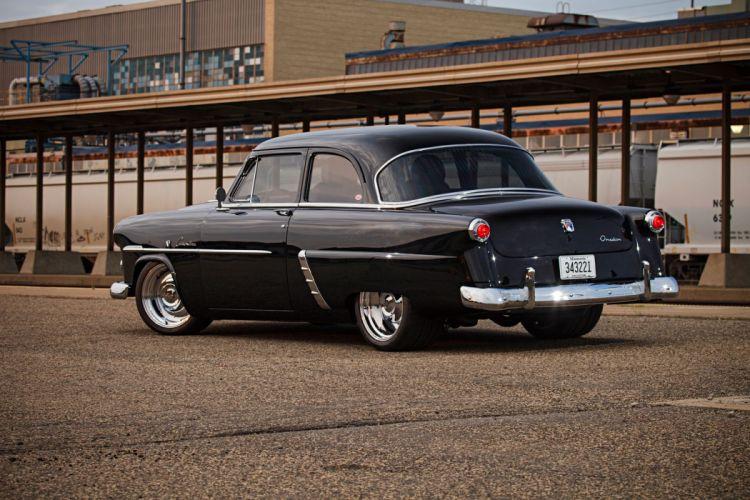 1952 Ford Customline Sedan Two Door Streetrod Street Rod Rodder Black USA 2040x1360-05 wallpaper