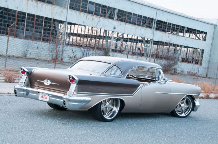 1957 Oldsmobile Super 88 Coupe streetrod Street Rod Rodder USA 2048x1360-05 wallpaper