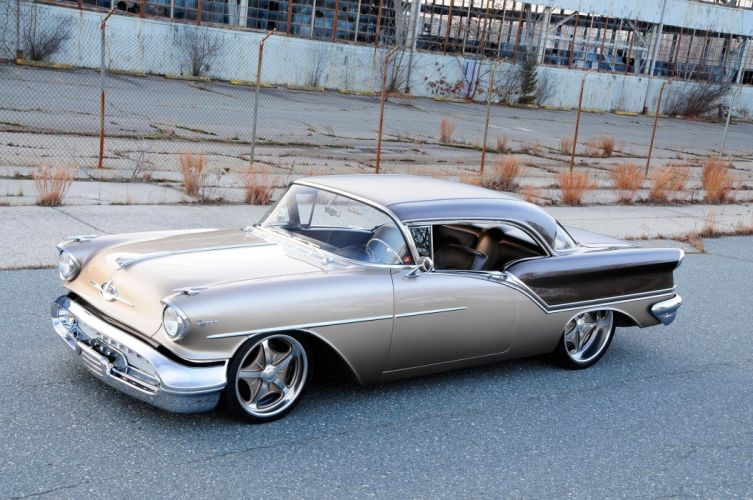1957 Oldsmobile Super 88 Coupe streetrod Street Rod Rodder USA 2048x1360-02 wallpaper