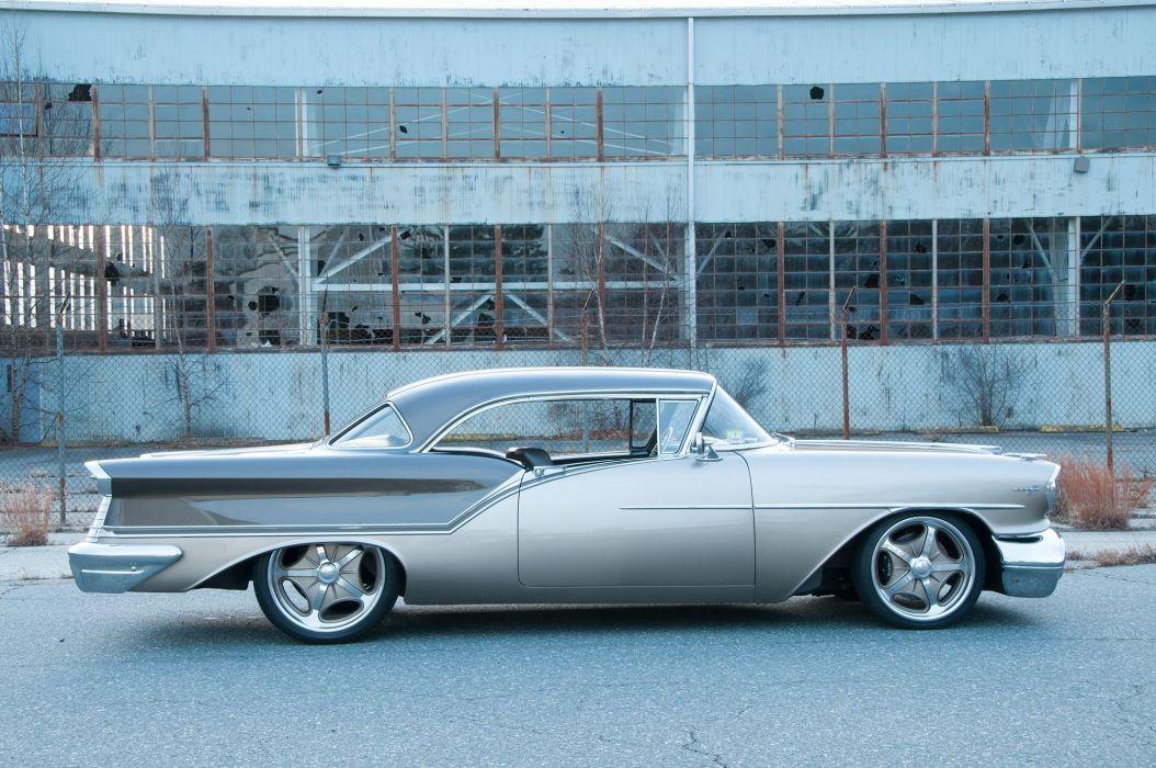 1957 Oldsmobile Super 88 Coupe streetrod Street Rod Rodder USA 2048x1360-04 wallpaper