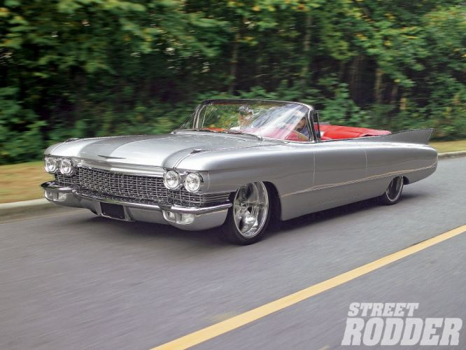 1960 Cadillac Convertible Cloud Nineteen Streetrod Street Rod Hot Rodder Custom Kustom Lowered Low USA 1600x1200-02 wallpaper