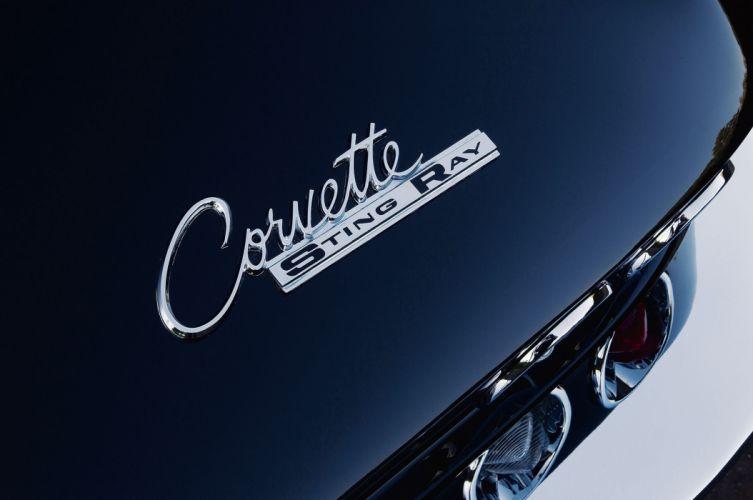 1963 Chevrolet Chevy Corvette Stingray Streetrod Street Rod Rodder Muscle Low Black USA-2048x1360-08 wallpaper