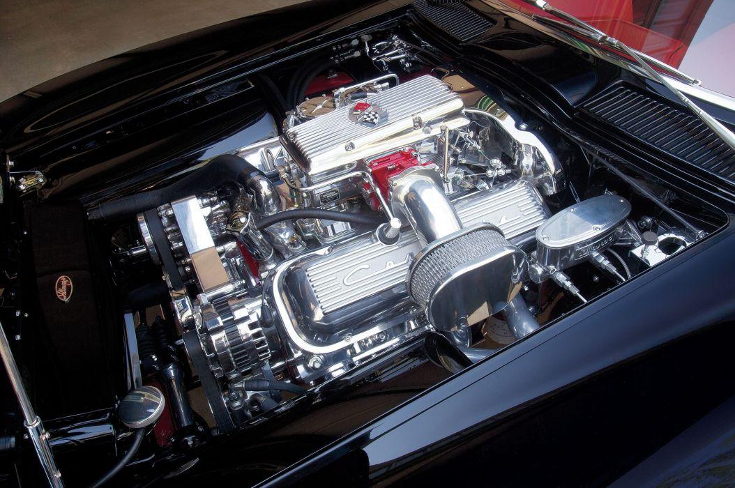 1963 Chevrolet Chevy Corvette Stingray Streetrod Street Rod Rodder Muscle Low Black USA-2048x1360-07 wallpaper