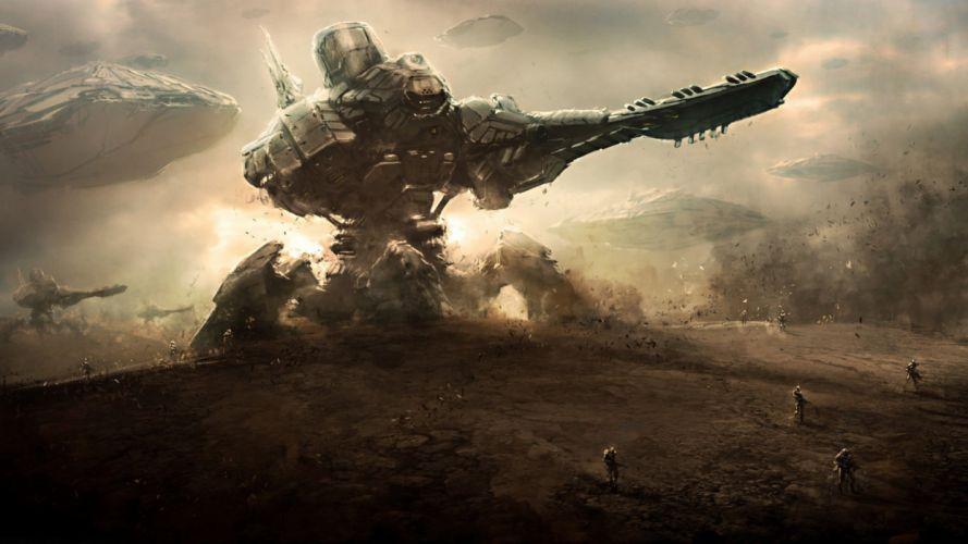 robot sci-fi art artwork futuristic robot wallpaper