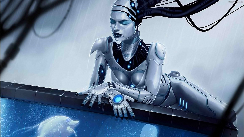 Robot sci-fi art artwork futuristic robot wallpaper ...